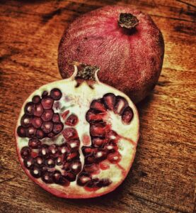 pomegranate, red, fruit